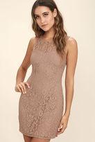 BB Dakota Thessaly Mauve Lace Dress