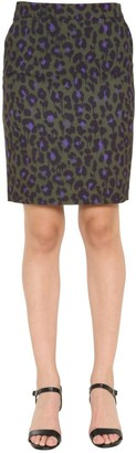 Boutique Moschino Leopard Print Pencil Skirt
