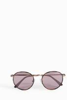 Orlebar Brown Tortoise Shell Round Sunglasses