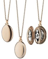 Monica Rich Kosann 18k Rose Gold & Diamond Locket Necklace