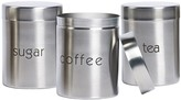 Basic Essentials 3-pc. Stainless Steel Canister Set