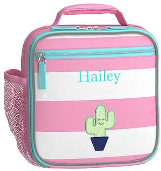 Pottery Barn Kids Fairfax Pink/White Stripe Lunch Boxes
