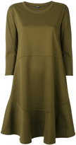 Jil Sander Navy flared long-sleeved dress