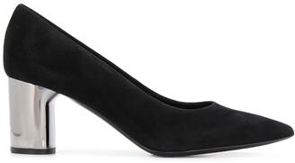 Casadei metallic block heel pumps