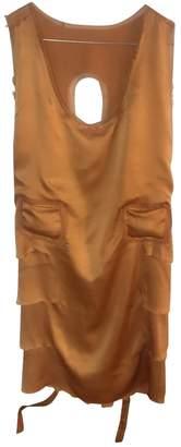Philosophy di Alberta Ferretti Orange Silk Dress for Women