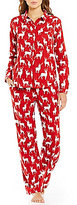 Sleep Sense Deer-Print Flannel Pajamas