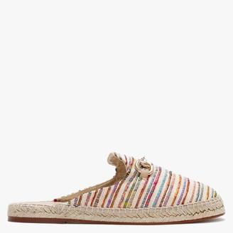 Carmen Saiz Multicoloured Striped Textile Backless Loafer Espadrilles