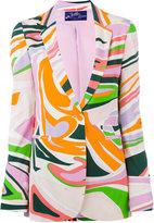 Emilio Pucci printed blazer - women - Viscose/Silk/Spandex/Elastane - 40