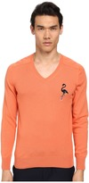 Marc Jacobs Cashmere Silk Flamingo Embroidered Sweater