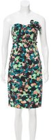 Catherine Malandrino Strapless Abstract Print Dress