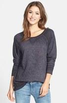 Petite Women's Caslon Burnout Sweatshirt