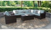 Kathy Ireland Homes & Gardens By Tk Classics River Brook 8 Piece Sectional Seating Group with Cushions Homes & Gardens by TK Classics Cushion Color: Tranquil