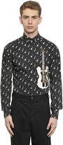 Dolce & Gabbana Guitar Print Cotton Poplin Shirt
