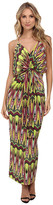 T-Bags LosAngeles Tbags Los Angeles Spaghetti Strap Deep-V Maxi Dress with Front Tie