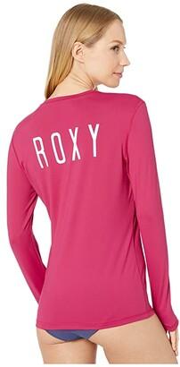 Roxy Enjoy Waves Long Sleeve Rashguard (Bright White 1) Women's Swimwear