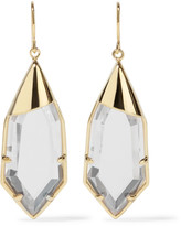 Noir White Radiance gold-tone crystal earrings