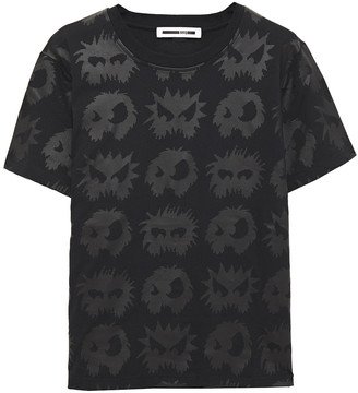 McQ Printed Coated Cotton-jersey T-shirt