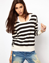 Only Bold Stripe Sweat Top