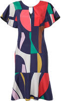 Ginger & Smart geometric print flared dress