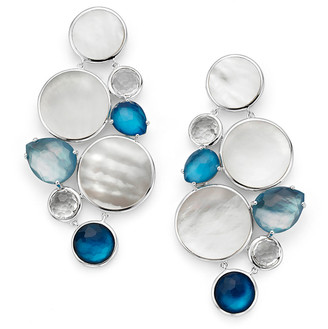 Ippolita Wonderland Multi-Stone Chandelier Earrings in Moroccan Dust