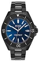 Hugo Boss Luminova watch in black-plated stainless steel