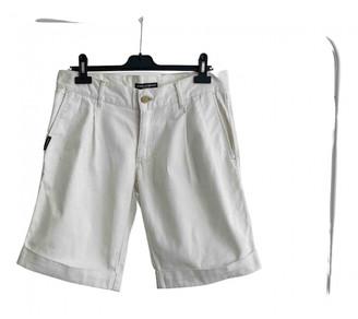 Dolce & Gabbana White Cotton Shorts