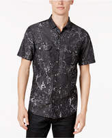 INC International Concepts Men's Snap-Front Splatter Shirt, Created for Macy's