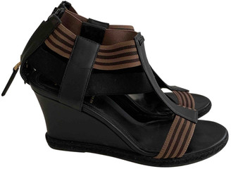 Fendi Brown Leather Sandals