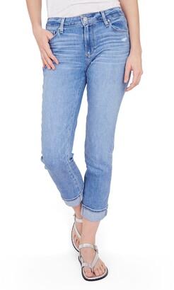Paige Brigitte High Waist Slim Fit Boyfriend Jeans