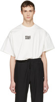 Vetements White Hanes Edition Quick Made Oversized 'Staff' T-Shirt