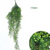 LCL CL Artificial Shrubs,Wall Hanging Artificial Orchid Cane Ivy Leaf Flower Vine Rattan Simulation Flowers Plants for Home Room Garden Balcony Decoration