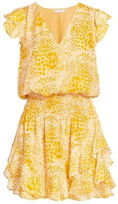 Ramy Brook Simone Animal Print Mini Dress