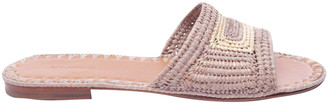 Carrie Forbes Beige Leather Sandals
