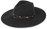SENSI STUDIOS Studded Wool Felt Fedora Hat