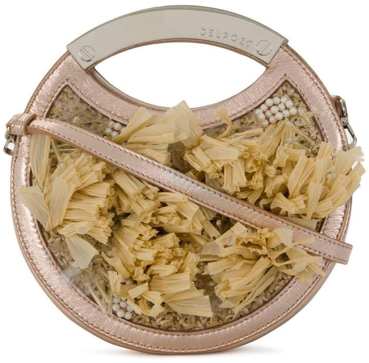 DELPOZO fringed circular bag