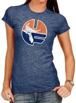 Original Retro Brand Unbranded Women's Heathered Navy Florida Gators Tri-Blend Crew Neck T-Shirt