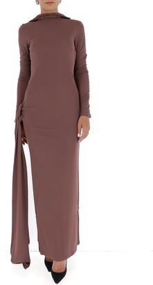 ATTICO Cut Out Maxi Dress