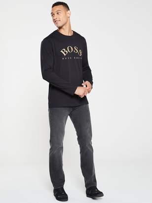 BOSS Togn Long Sleeve Large Logo T-Shirt - Black