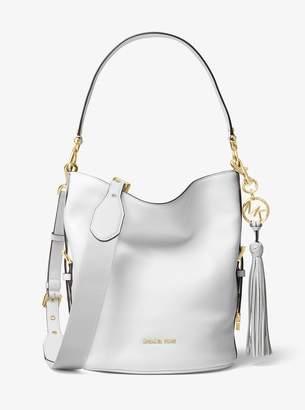 MICHAEL Michael Kors Brooke Medium Pebbled Leather Bucket Bag