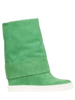 Casadei 90mm Suede Folded Boots