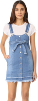Sjyp Button Front Strap Denim Dress