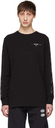 Off-White Off White Black Diag 3D Line Long Sleeve T-Shirt
