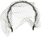 Beaded Headband with Plaited Metallic Trim and Veil