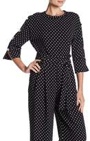 Laundry by Shelli Segal Imitation Pearl Detail Polka Dot Top