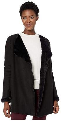 UGG Abriana Shawl Cardigan (Black) Women's Clothing