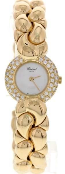 Chopard Ladies 18K Yellow Gold Diamond Casmir Bangle Watch