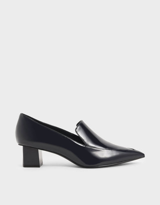 Charles & KeithCharles & Keith Patent Pointed Toe Loafers