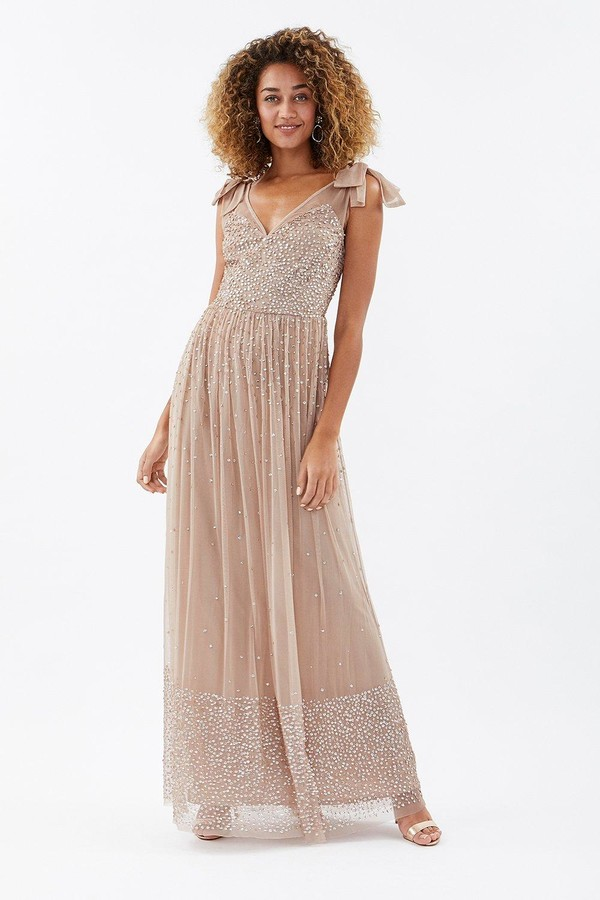Coast Scatter Embellished Maxi Dress