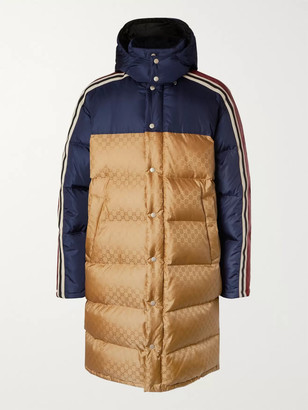 Gucci Oversized Quilted Logo-Jacquard Shell Hooded Down Jacket - Men