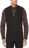 Perry Ellis Textured Button-Front Sweater Vest
